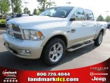2011 Bright White Dodge Ram 1500 Laramie Longhorn Crew Cab 4x4 #50731460