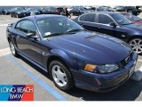 2002 True Blue Metallic Ford Mustang V6 Coupe #50731545