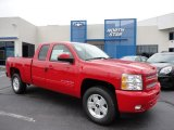 2011 Victory Red Chevrolet Silverado 1500 LT Extended Cab 4x4 #50768809