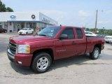 2007 Sport Red Metallic Chevrolet Silverado 1500 LT Extended Cab 4x4 #50769154
