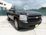 2008 Black Chevrolet Silverado 1500 Work Truck Regular Cab 4x4 #50768894