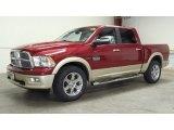 2011 Deep Cherry Red Crystal Pearl Dodge Ram 1500 Laramie Longhorn Crew Cab 4x4 #50769394