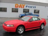 2003 Torch Red Ford Mustang V6 Convertible #50768727