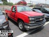 2006 Victory Red Chevrolet Silverado 1500 Work Truck Regular Cab #50827673