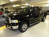 2005 Black Dodge Ram 1500 SLT Quad Cab 4x4 #50827978