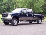 2004 True Blue Metallic Ford F250 Super Duty Lariat Crew Cab 4x4 #50870577