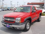 2005 Victory Red Chevrolet Silverado 1500 Z71 Regular Cab 4x4 #50870704