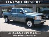 2007 Blue Granite Metallic Chevrolet Silverado 1500 LT Z71 Crew Cab 4x4 #50870459