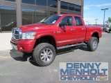 2008 Inferno Red Crystal Pearl Dodge Ram 3500 Laramie Quad Cab 4x4 #50870766