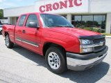 2004 Victory Red Chevrolet Silverado 1500 LS Extended Cab #50912225