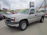 2006 Silver Birch Metallic Chevrolet Silverado 1500 Work Truck Regular Cab 4x4 #50912229