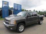 2011 Steel Green Metallic Chevrolet Silverado 1500 LT Crew Cab 4x4 #50912100