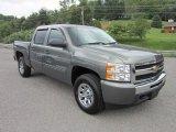 2011 Steel Green Metallic Chevrolet Silverado 1500 LS Crew Cab 4x4 #50912637