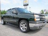 2005 Dark Green Metallic Chevrolet Silverado 1500 LS Crew Cab #50912304