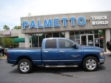 2005 Atlantic Blue Pearl Dodge Ram 1500 SLT Quad Cab #50912333