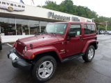 2011 Deep Cherry Red Crystal Pearl Jeep Wrangler Sahara 4x4 #50965407