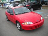 2002 Bright Red Chevrolet Cavalier Coupe #50965372