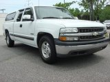 2000 Summit White Chevrolet Silverado 1500 LS Extended Cab #50965274