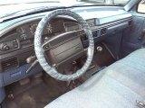 1996 Ford F150 XLT Regular Cab Blue Interior
