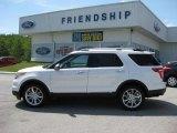 2011 White Platinum Tri-Coat Ford Explorer Limited 4WD #50983963