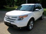 2011 White Platinum Tri-Coat Ford Explorer Limited 4WD #50988989