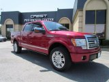 2010 Vermillion Red Ford F150 Platinum SuperCrew 4x4 #50998658