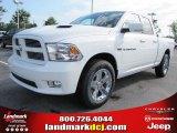2011 Bright White Dodge Ram 1500 Sport Quad Cab #50998194
