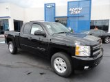 2011 Black Chevrolet Silverado 1500 LT Extended Cab 4x4 #50998238