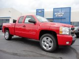 2011 Victory Red Chevrolet Silverado 1500 LT Extended Cab 4x4 #50998240