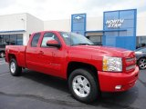 2011 Victory Red Chevrolet Silverado 1500 LT Extended Cab 4x4 #50998248