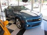 2010 Aqua Blue Metallic Chevrolet Camaro SS/RS Coupe #50998505