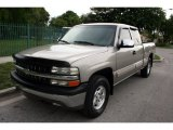 2000 Light Pewter Metallic Chevrolet Silverado 1500 LS Extended Cab 4x4 #50998320