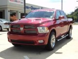 2010 Inferno Red Crystal Pearl Dodge Ram 1500 Sport Crew Cab #50998527