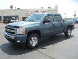 2011 Blue Granite Metallic Chevrolet Silverado 1500 LT Crew Cab 4x4 #51079909
