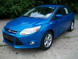 2012 Blue Candy Metallic Ford Focus SE Sedan #51080095