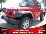 2011 Deep Cherry Red Crystal Pearl Jeep Wrangler Sport 4x4 #51079650