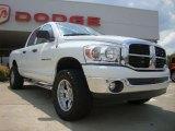 2007 Bright White Dodge Ram 1500 SLT Quad Cab 4x4 #51079993