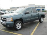 2010 Blue Granite Metallic Chevrolet Silverado 1500 LT Crew Cab #51134337