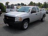 2011 Sheer Silver Metallic Chevrolet Silverado 1500 Extended Cab #51134526
