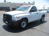 2008 Bright White Dodge Ram 1500 ST Regular Cab #51189118