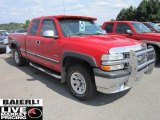 2000 Victory Red Chevrolet Silverado 1500 LS Extended Cab 4x4 #51188654