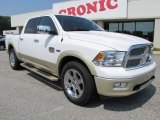 2011 Bright White Dodge Ram 1500 Laramie Longhorn Crew Cab #51188995