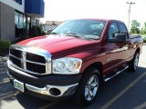 2007 Inferno Red Crystal Pearl Dodge Ram 1500 ST Quad Cab #51189318