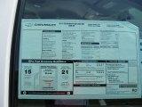 2011 Chevrolet Silverado 1500 Extended Cab Window Sticker