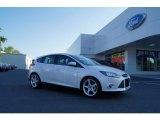 2012 White Platinum Tricoat Metallic Ford Focus Titanium 5-Door #51188900