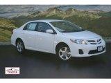 2011 Super White Toyota Corolla LE #51242029