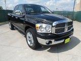 2008 Brilliant Black Crystal Pearl Dodge Ram 1500 Lone Star Edition Quad Cab #51272243