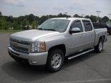 2011 Sheer Silver Metallic Chevrolet Silverado 1500 LT Crew Cab 4x4 #51289109