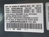 2011 CR-V Color Code for Opal Sage Metallic - Color Code: G532M