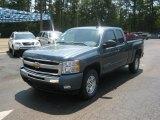2011 Blue Granite Metallic Chevrolet Silverado 1500 LT Extended Cab 4x4 #51289172
